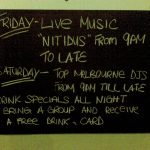 Sign board out the front of Three Crowns, 27 Feb 2009