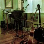 Our acoustic set up at Three Crowns, 27 Feb 2009