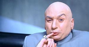 Dr. Evil smirks